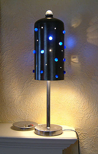 Metal Art - Blue-Bead Table Lamp