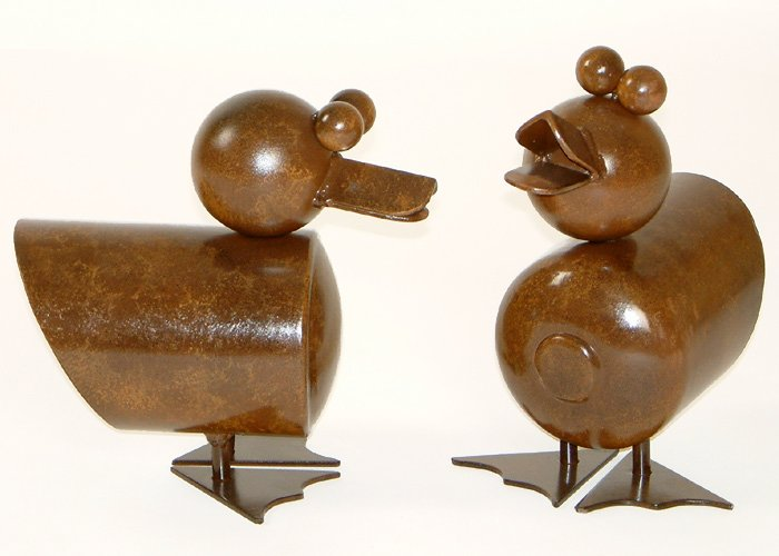 Metal Art - Duckies