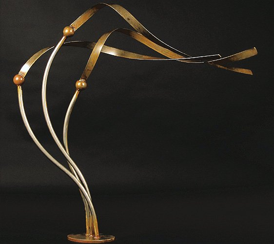 Metal Art - Medium Floor-Standing Kelp, Tidal Flow (2)