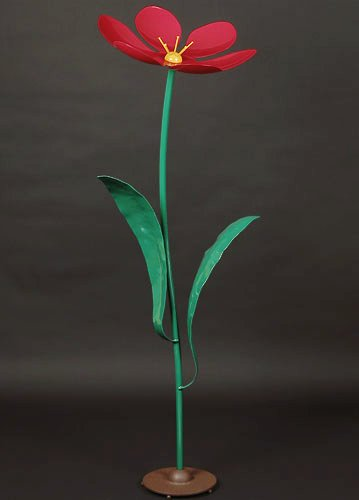 Metal Art - Red Flower