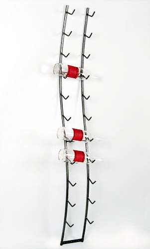 Metal Art - Wall-Mount Wine Spine